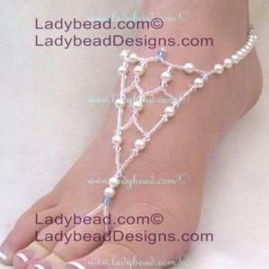 Beach Wedding Sandals Barefoot Jewe..